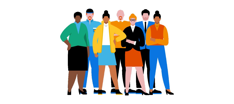 Eine Personengruppe