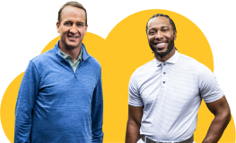 Two of our brand ambassadors, Larry Fitzgerald and Peyton Manning