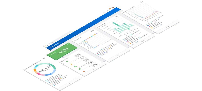 Tableros de mando de análisis operativo para finanzas y RRHH.